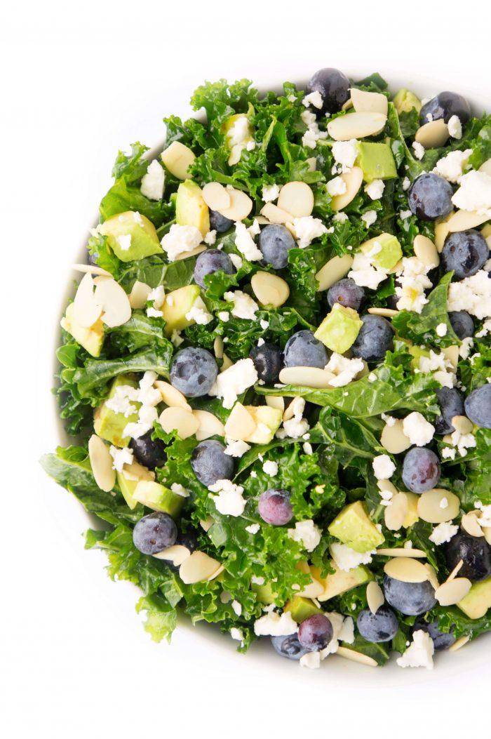Blueberry & Avocado Kale Salad
