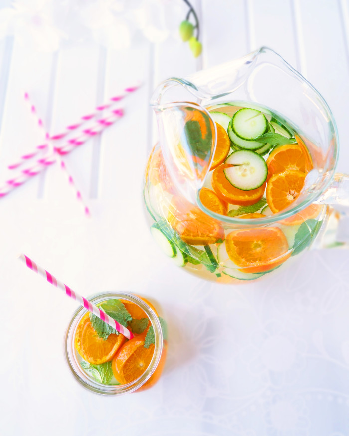 Citrus, cucumber and mint water2