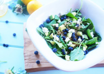 Baby Kale & Blueberry Salad with Lemon Vinaigrette