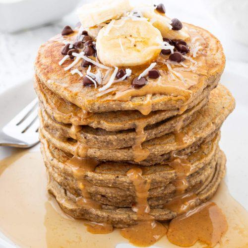 Banana Protein Pancakes | Haute & Healthy Living