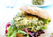 Roasted Garlic & Feta Chicken Burgers