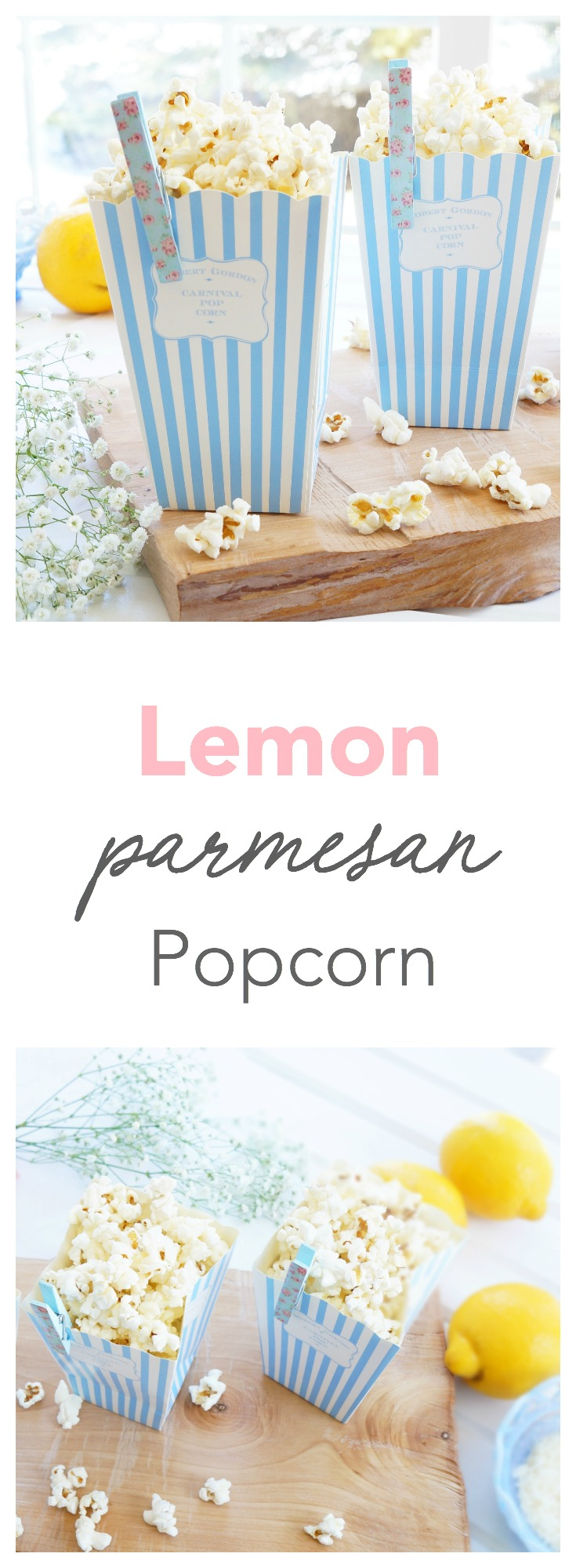 This crunchy and filling popcorn is topped up with a sprinkle of lemon zest, parmesan cheese and black pepper. A great healthy option when you're craving some crunch! Gluten-free, vegetarian and full of fibre and antioxidants!