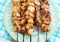 BBQ Chips Chicken Kabobs