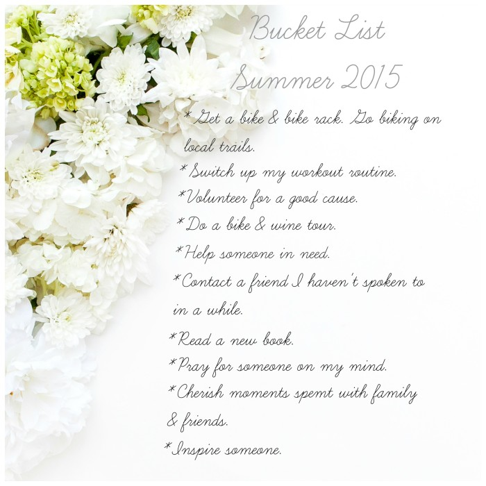 Bucket List Summer 2015