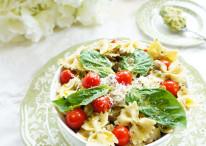 Lentil Pesto Pasta Salad