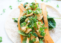 Chicken Peanut Wraps