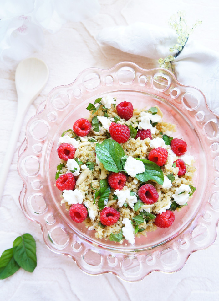 Raspberry Quinoa Salad 1