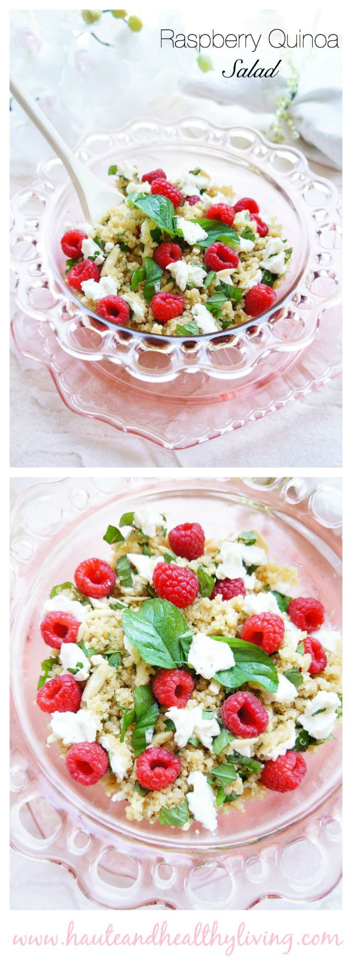 Raspberry Quinoa Salad | Haute & Healthy Living