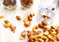 These nuts make the perfect healthy, yet satisfying snack! Makes the perfect edible gift for Father's Day!