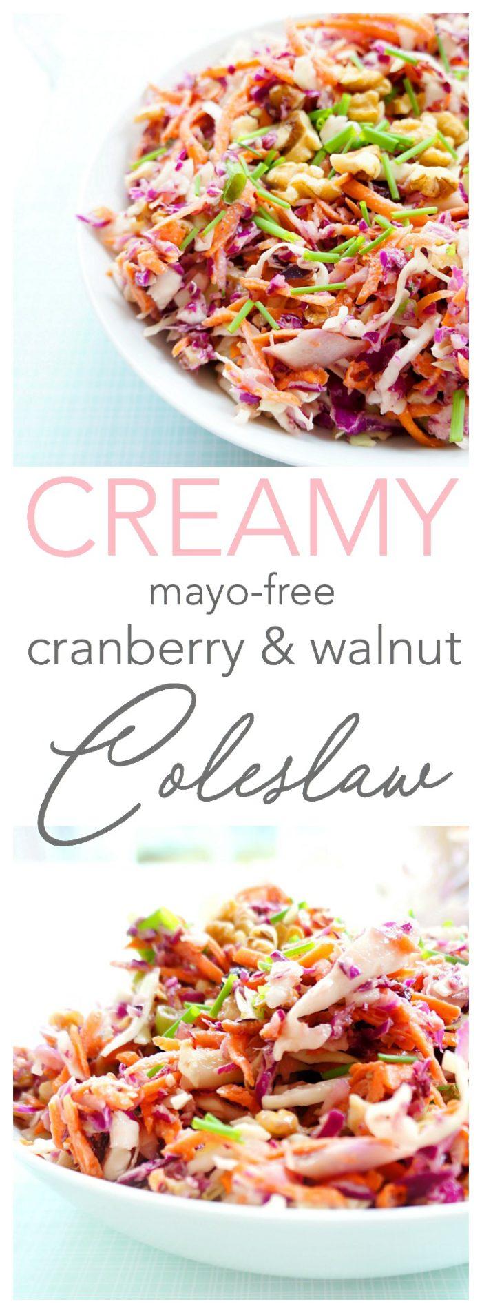 Creamy Cranberry & Walnut Coleslaw