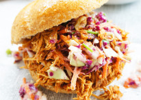 Pulled Crockpot BBQ Chicken Sandwiches