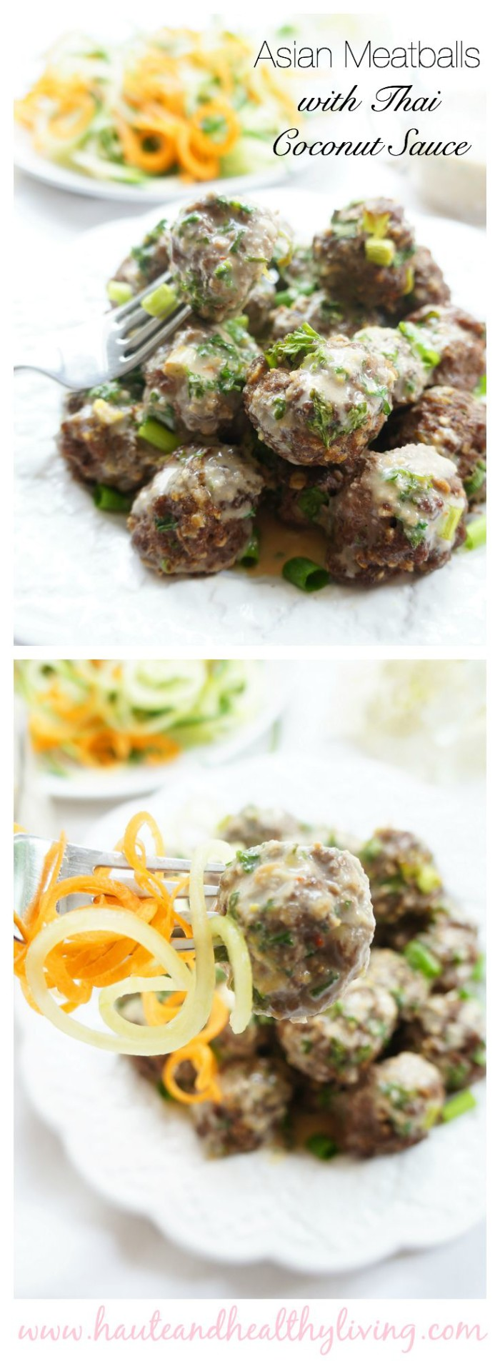 Asian Beef Meatballs with Thai Coconut Sauce | Haute & Healthy Living