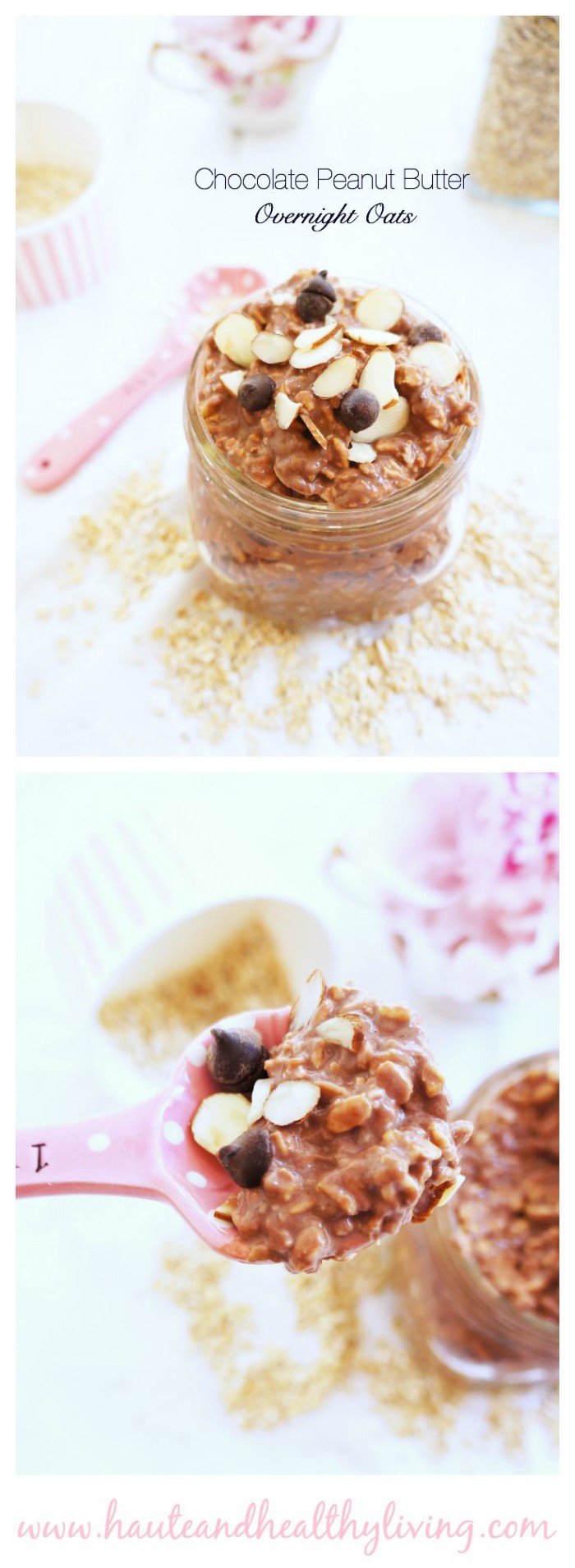 Chocolate PB Overnight Oats | Haute & Healthy Living