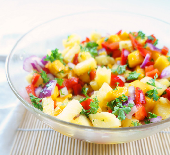 Tropical Fruit Salsa | Haute & Healthy Living