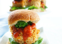 Chicken Meatloaf Muffin Sliders