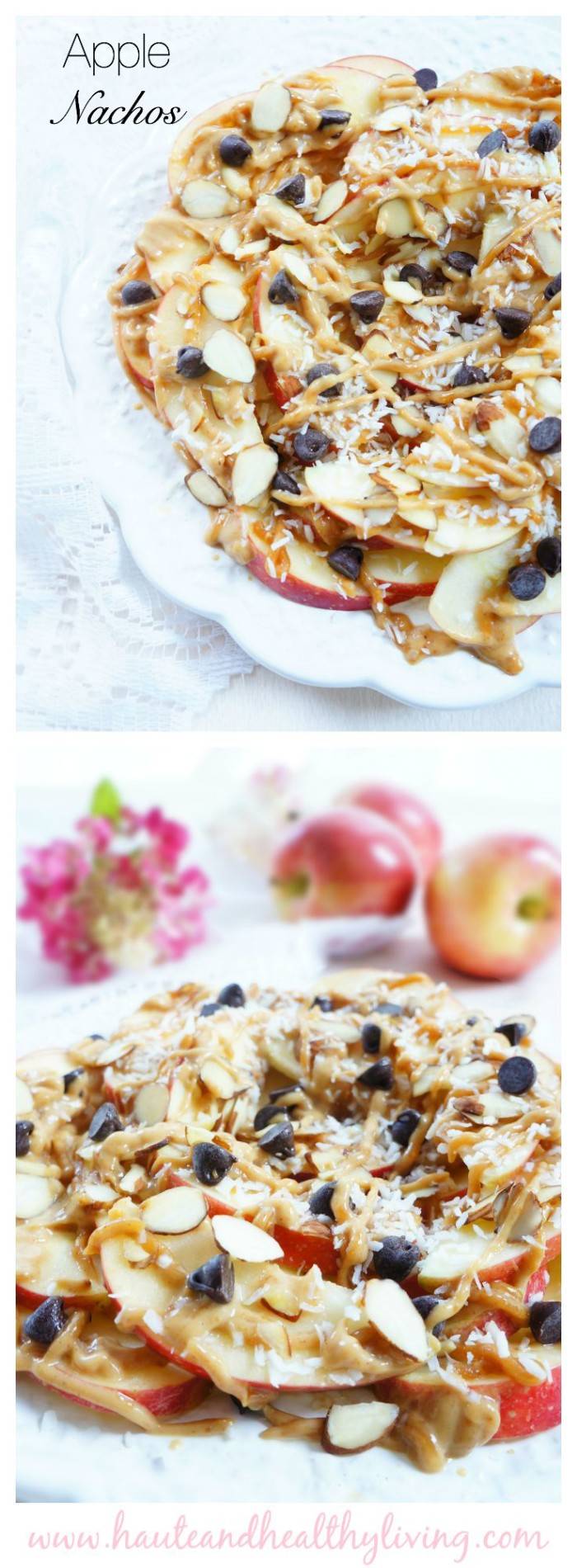 Apple nachos Collage