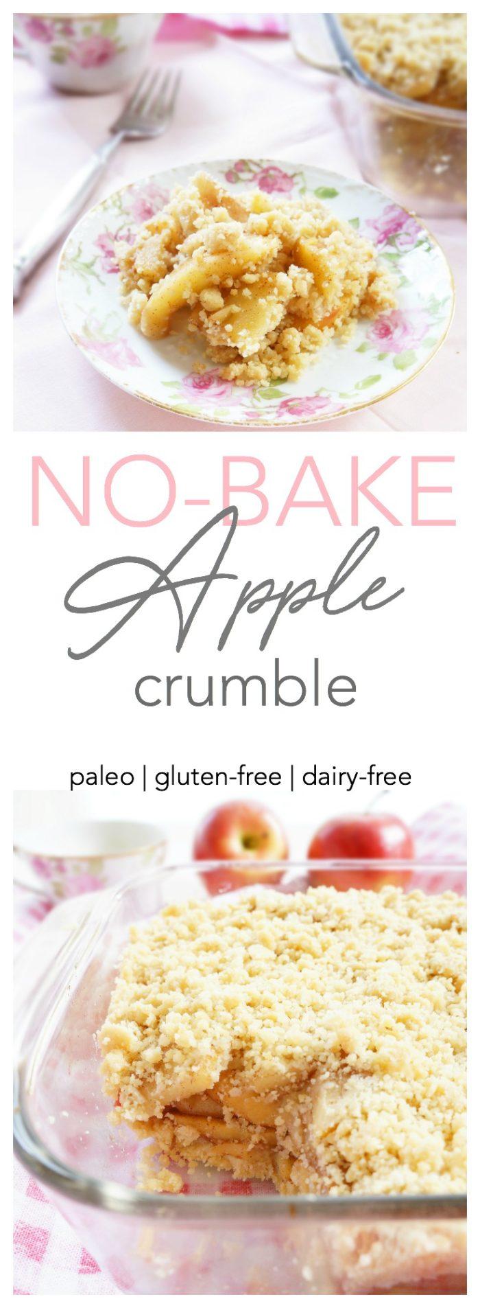 No Bake Apple Crumble