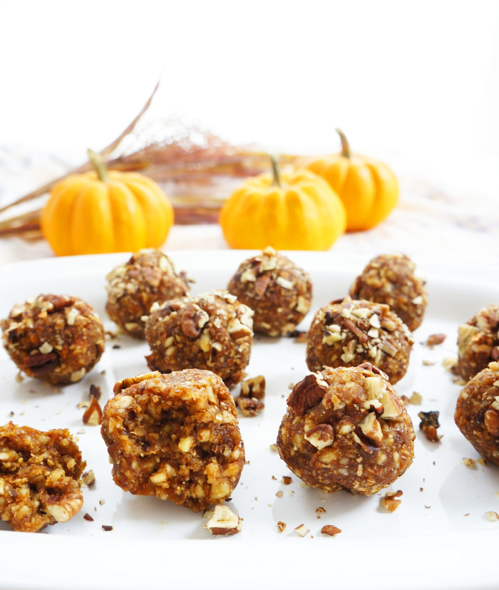 No-Bake Pumpkin Pie Bites | Haute & Healthy Living