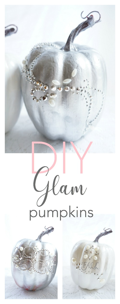 DIY Glam Pumpkins