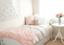 Blush Bedroom Makeover