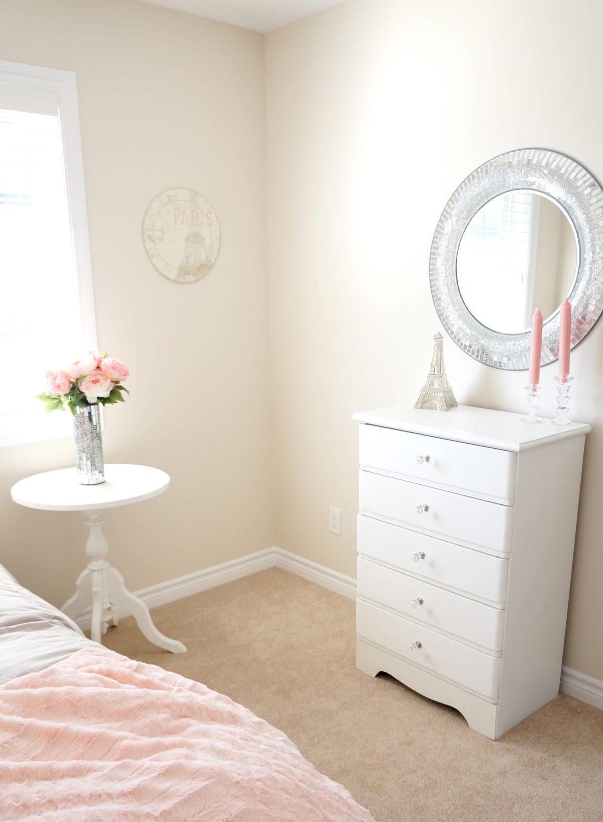 Blush Bedroom Makeover | Haute & Healthy Living on Makeup Bedroom  id=40517