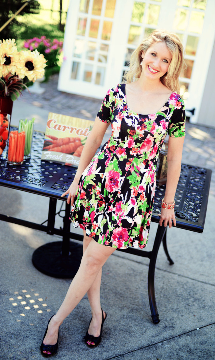 Pretty Little Fall Floral Dress | Haute & Healthy Living