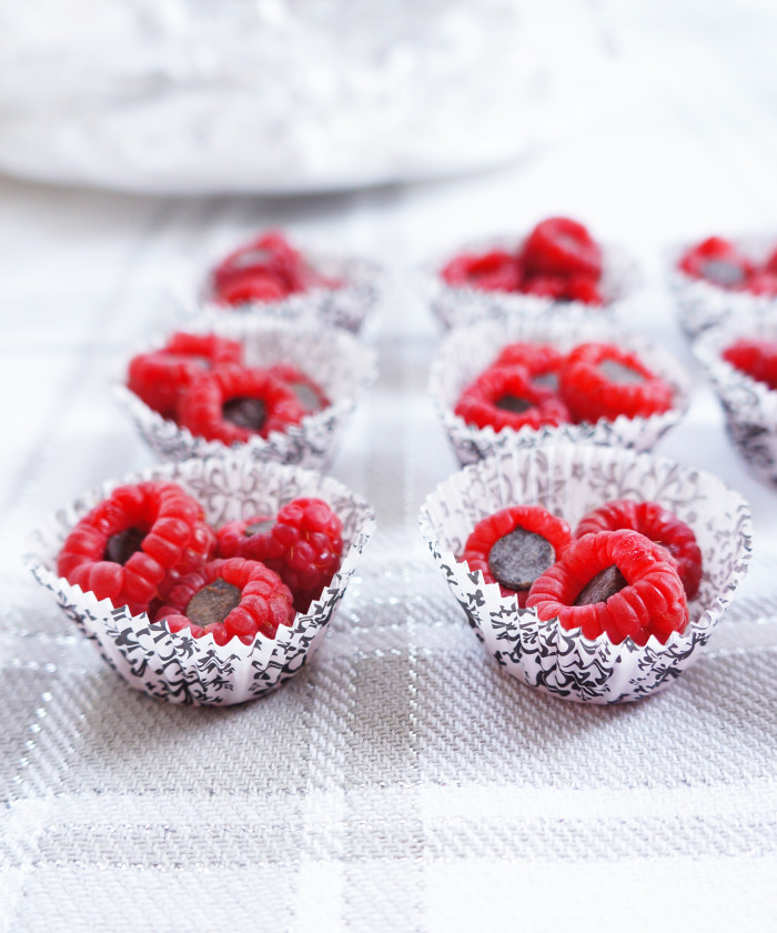 Dark Chocolate Stuffed Raspberries | Haute & Healthy Living