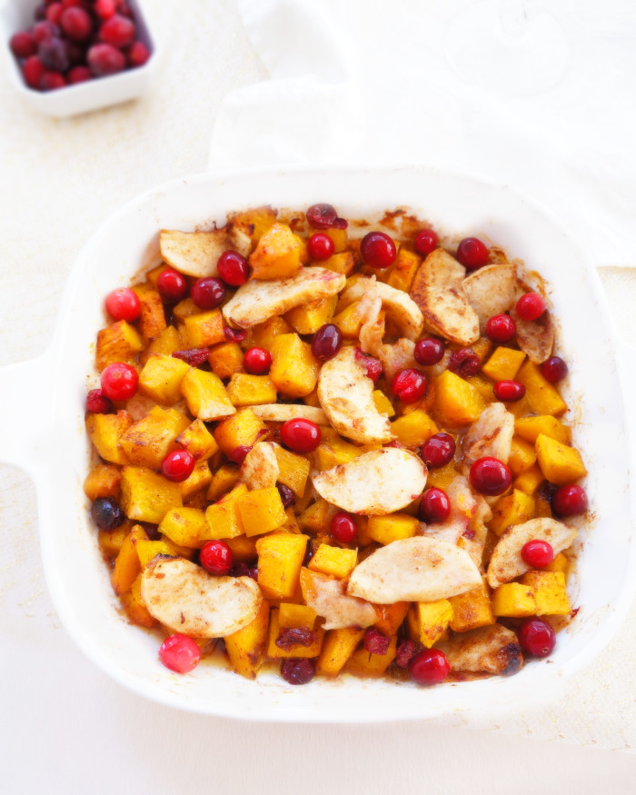Squash, Apple & Cranberry Bake | Haute & Healthy Living