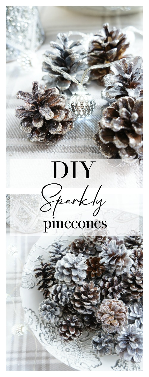 DIY Sparkly Pinecones
