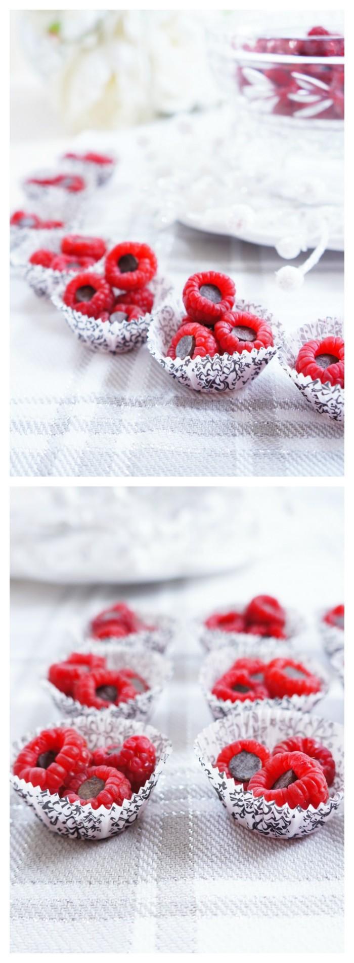 Dark Chocolate Stuffed Raspberries | Haute & Healthy Living