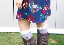 Cute Fall Dress & Boot Socks