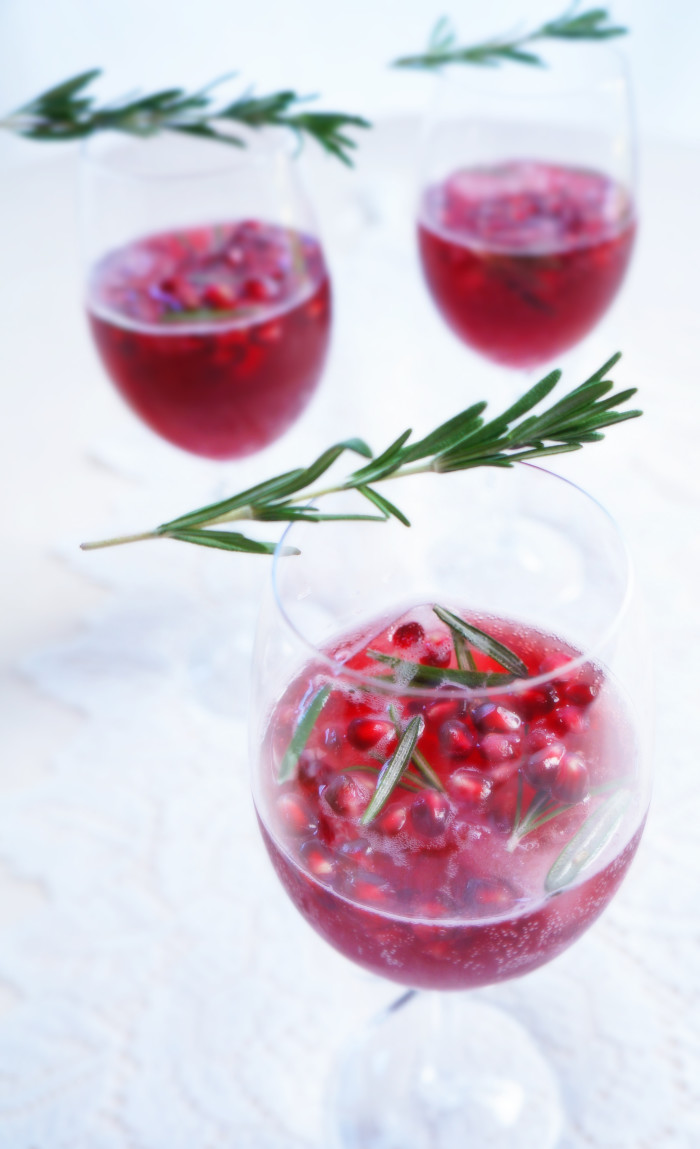 Spiced Pomegranate Sparkler | Haute & Healthy Living