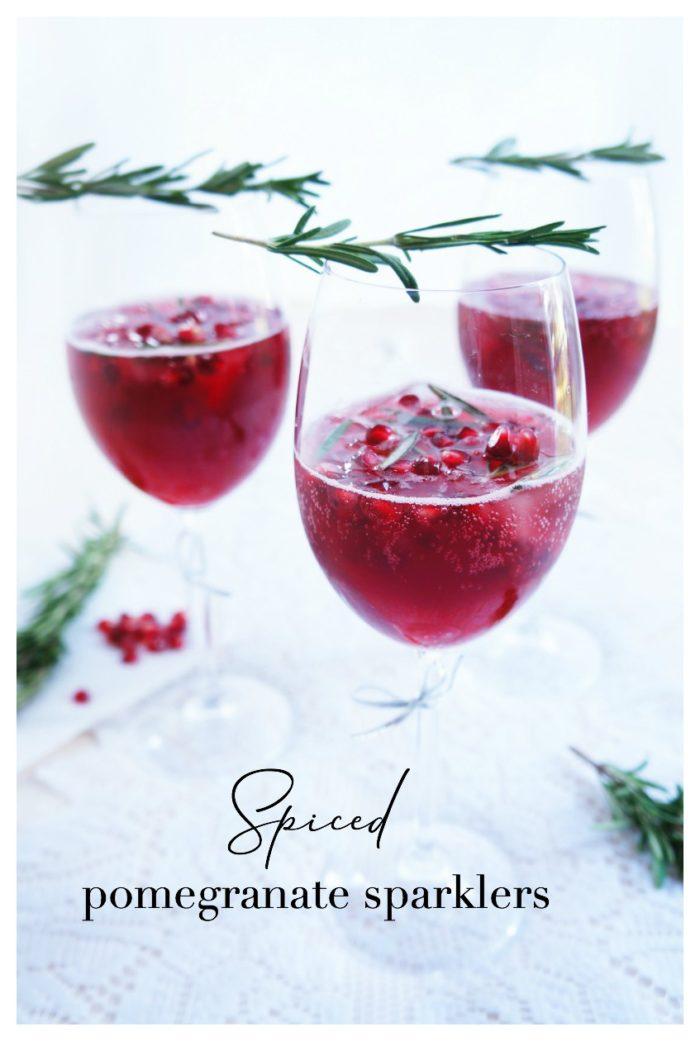 Virgin Spiced Pomegranate Sparkler