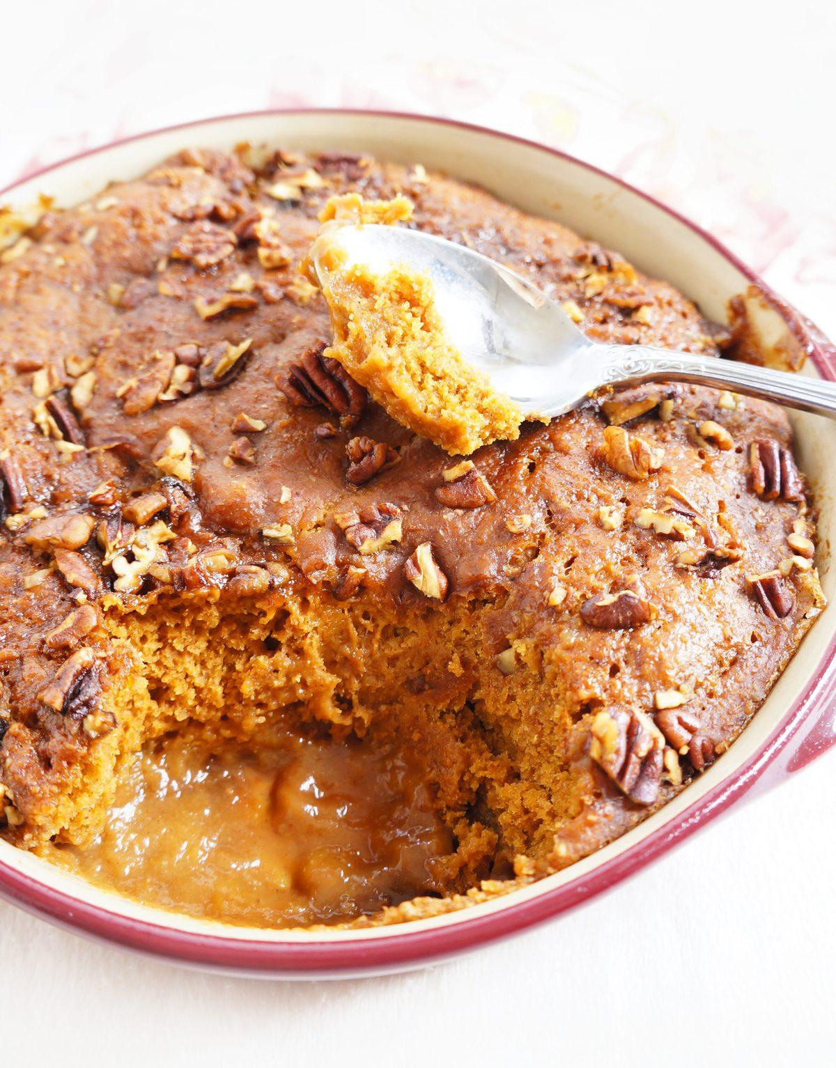 Pecan Pie Inside Chocolate Cake