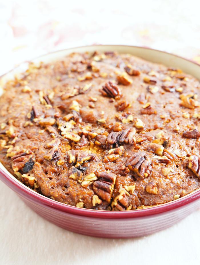 Pumpkin Pecan Pudding Cake | Haute & Healthy Living