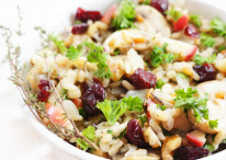 Cranberry Apple Walnut Wild Rice Stuffing
