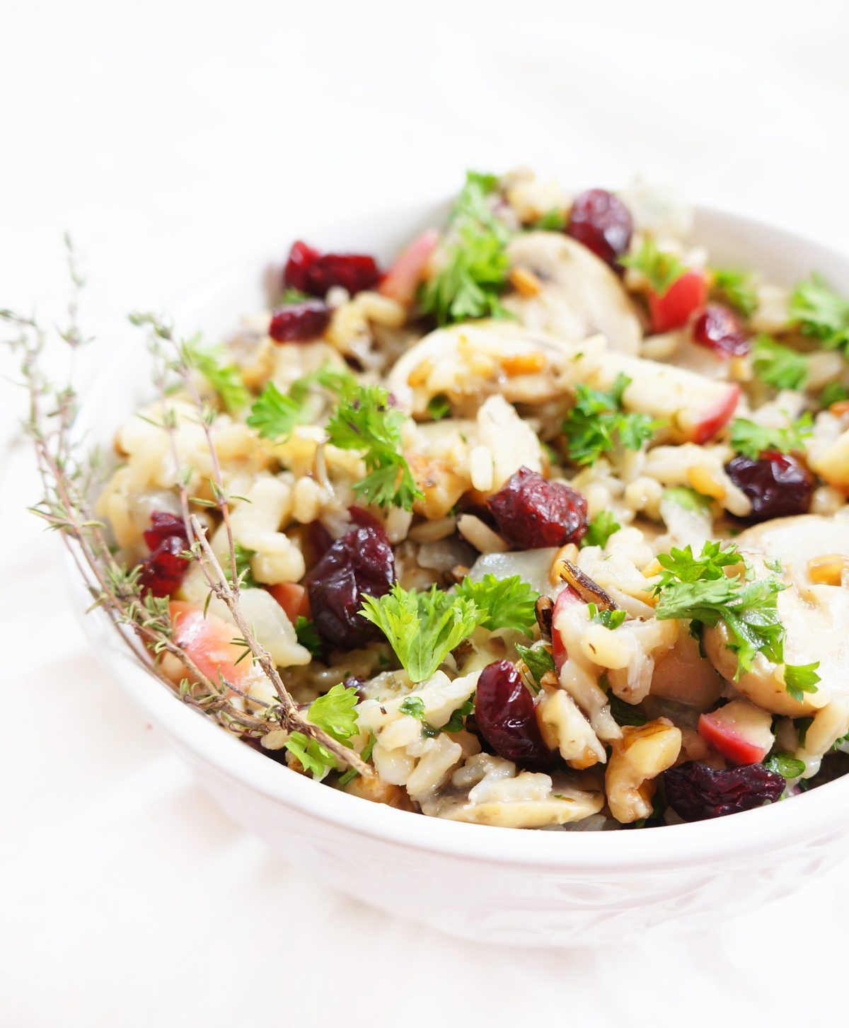 ... wild rice, dried cranberries and mushrooms, and some healthy omega-3