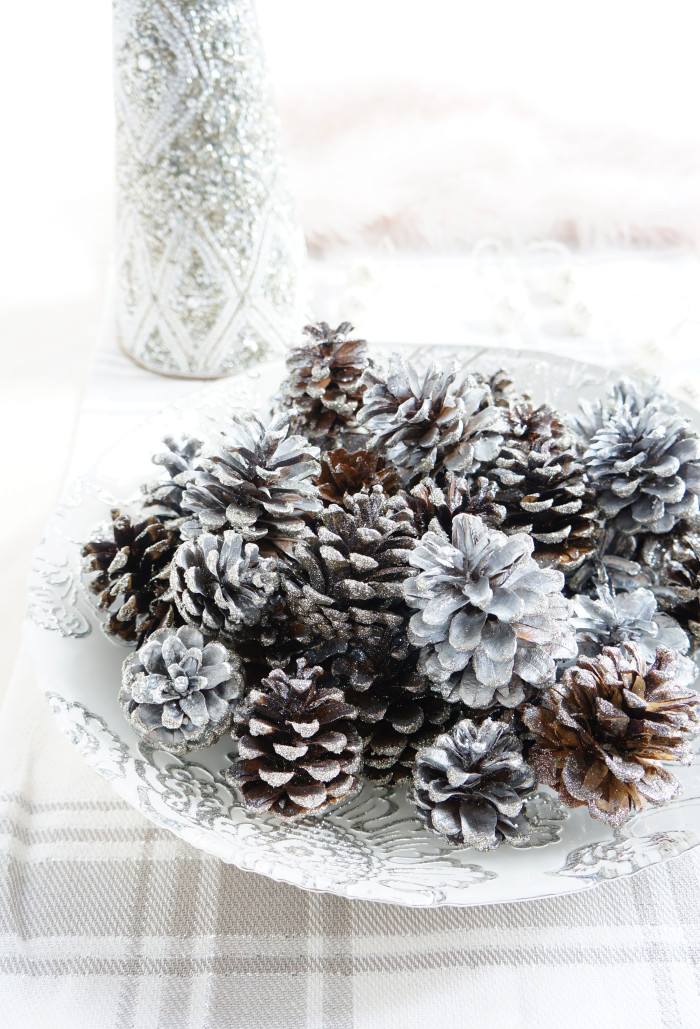 DIY Sparkly Pinecones | Haute & Healthy Living