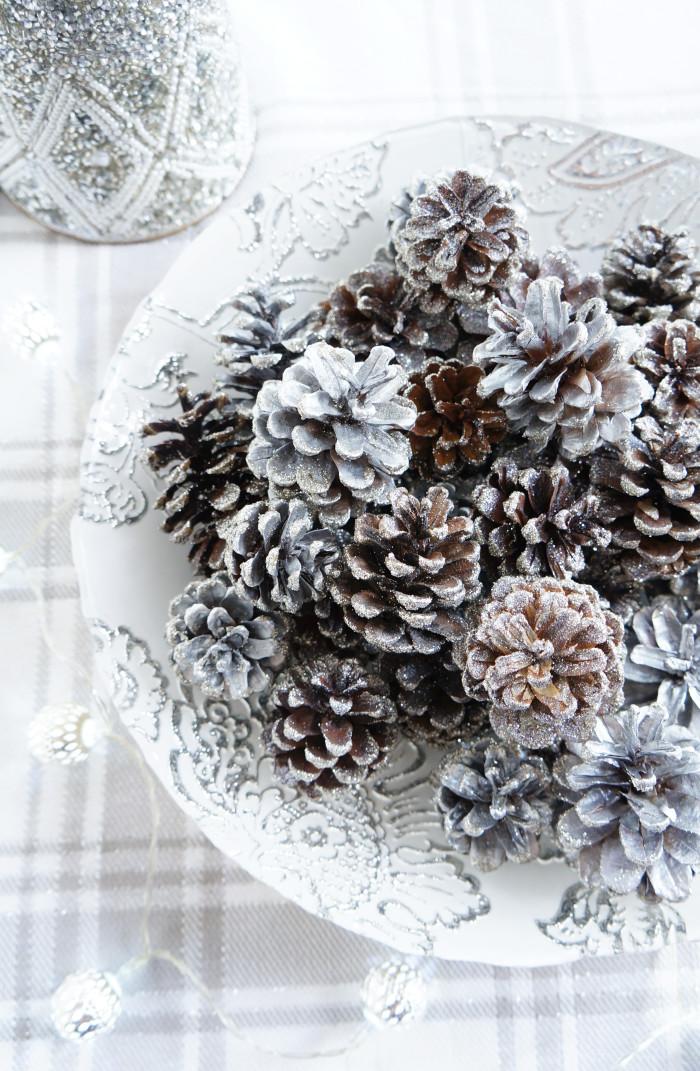 DIY Sparkly Pinecones | Haute & Healthy Living
