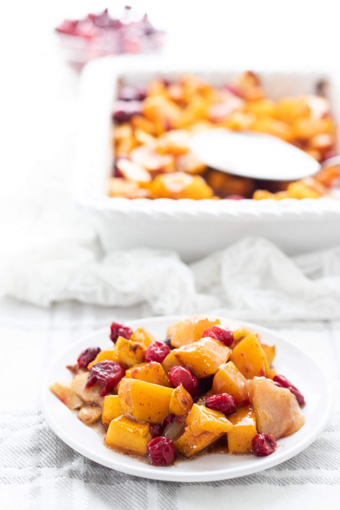 Squash Apple Cranberry Bake