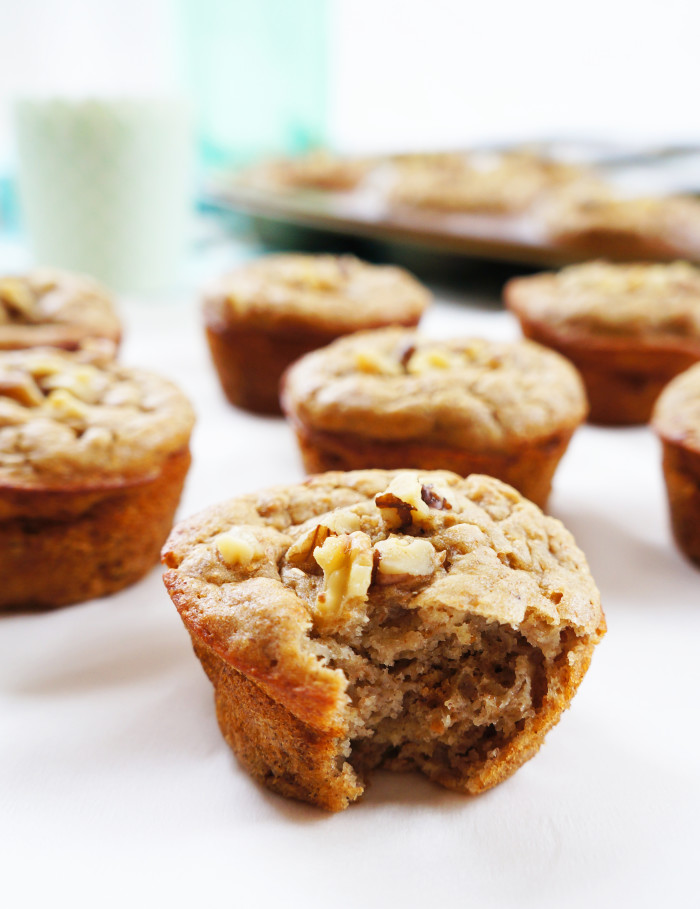 Banana Walnut Muffins | Haute & Healthy Living
