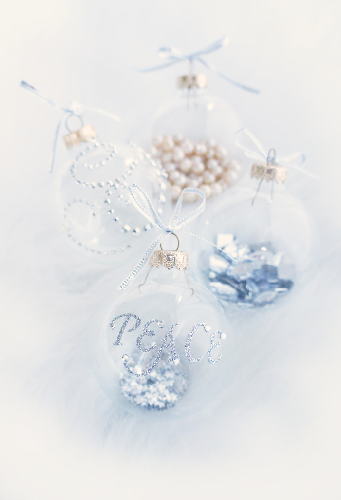 DIY Clear Glass Christmas Decorations | Haute & Healthy Living
