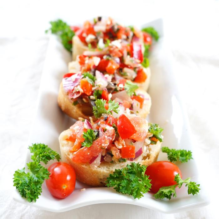 Mediterranean Bruschetta Spread | Haute & Healthy Living