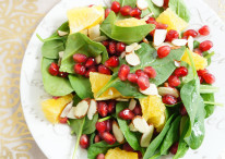 Spinach, Orange & Pomegranate Salad