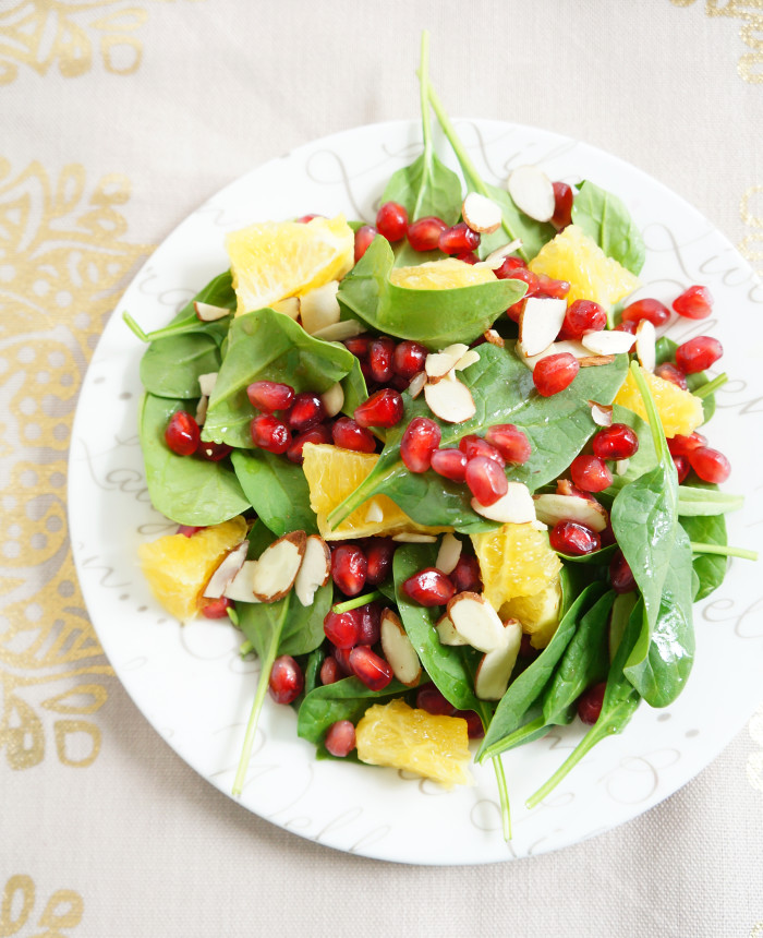 Spinach, Orange & Pomegranate Salad | Haute & Healthy Living