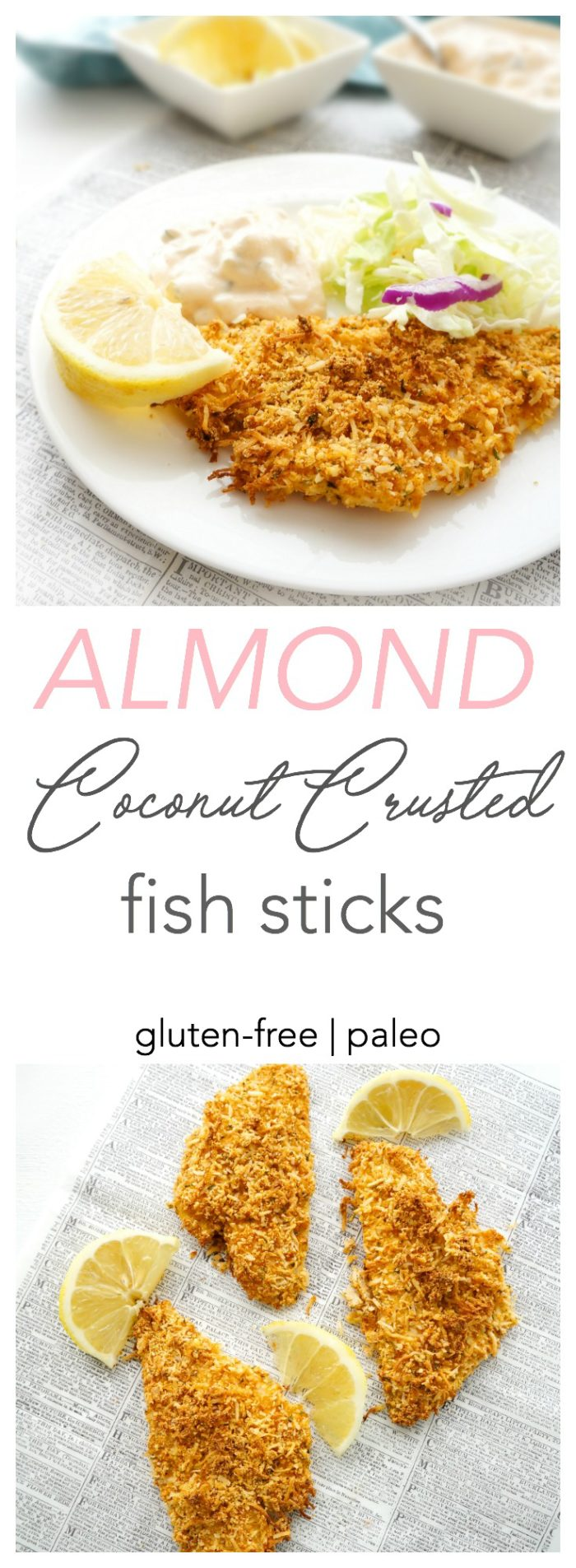 Haute healthy living almond coconut crusted fish for Healthy fish sticks