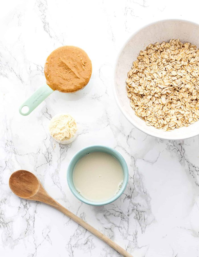 Ingredients for homemade protein bars