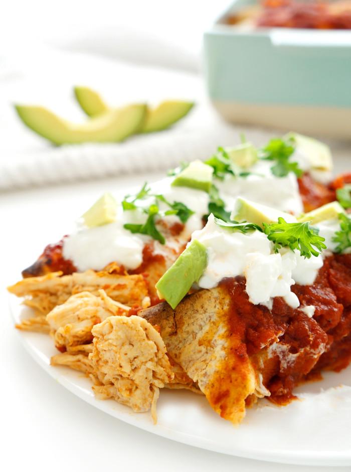 Chicken Enchiladas   Haute & Healthy Living