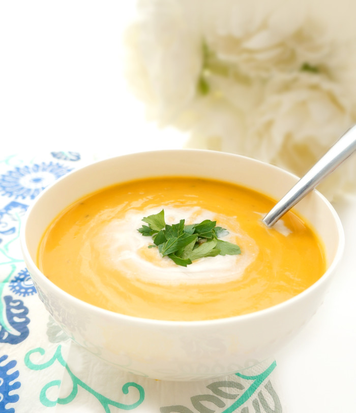 Creamy Sweet Potato Soup | Haute & Healthy Living