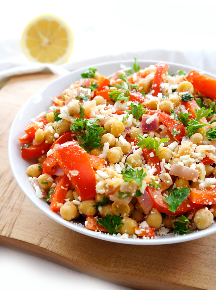 Haute & Healthy Living Mediterranean Chickpea Salad | Haute & Healthy...